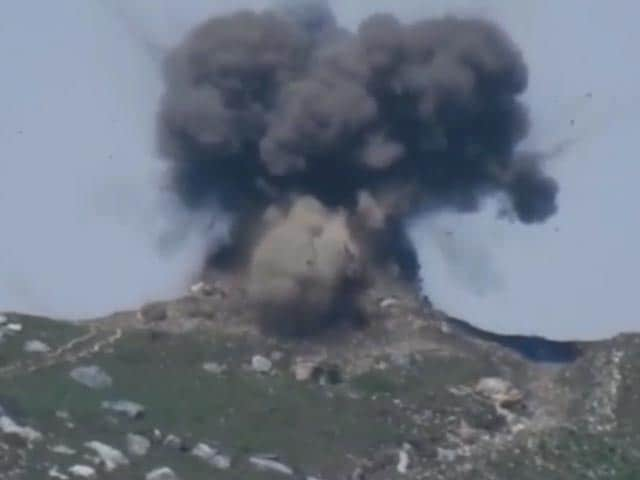 Video : In Video, Pak Bunker Destroyed With 3 Rockets Fired By India