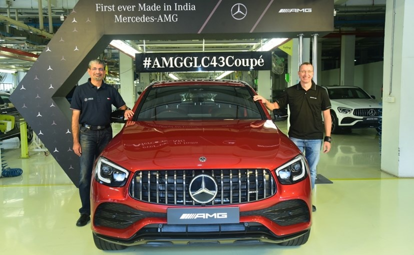 Piyush Arora, Executive Director & Martin Schwenk, MD & CEO Mercedes-Benz India with the AMG GLC Coupe