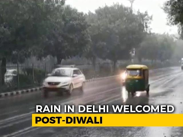 Video : Thunderstorm, Rain In Delhi Likely To Provide Relief From Choking Pollution