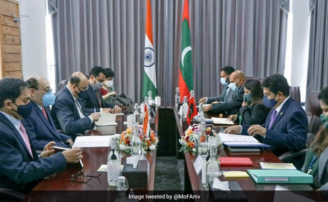 Foreign Secretary Harsh Shringla Discusses Bilateral Ties With Maldives