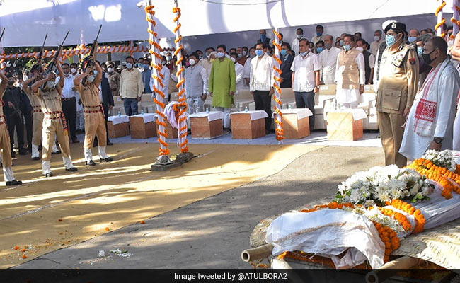 Former Assam Chief Minister Tarun Gogoi Cremated With Full State Honours