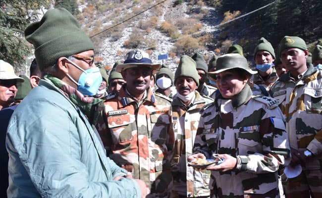 Trivendra Rawat Celebrates Diwali With Army, Security Personnel