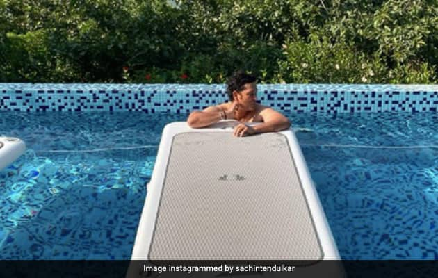 """Who Said Monday Blues Are Bad"": Sachin Chills Out By The Pool"