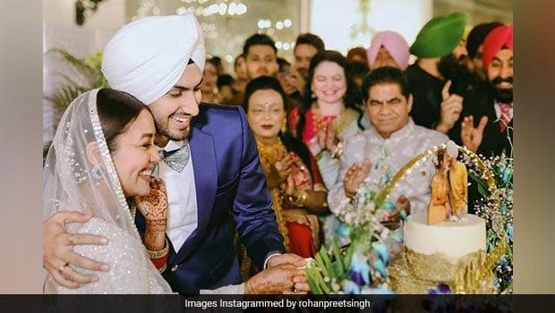 Viral: Neha Kakkar And Rohanpreet Singh's Glittery 5-Tier Wedding Cake Is A Vision! (See Pic Inside)