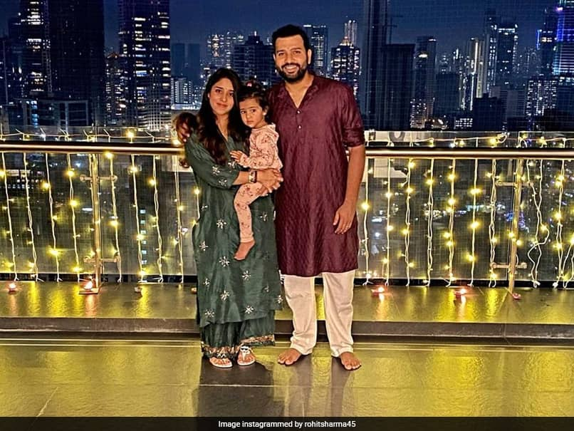 Rohit Sharma Shares Adorable Picture With Family, Wishes Fans Happy Diwali