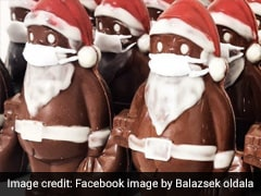 Christmas In Covid: Chocolate Santa With Marzipan Mask Is The Latest Festive Sensation