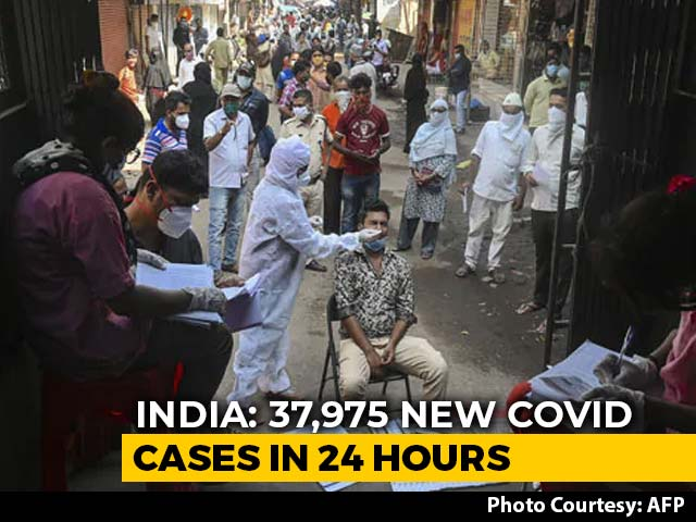 Video: India Covid Tally Nears 92 Lakh, 37,975 Fresh Cases Logged In A Day