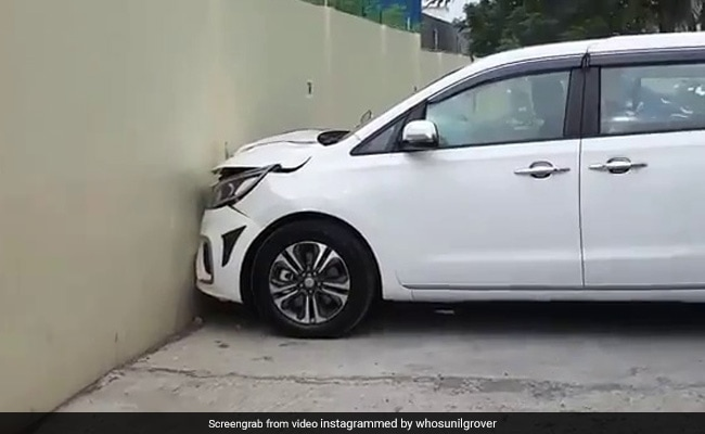 Driver Slams Brand New Car Into Showroom Wall. Video Is Viral