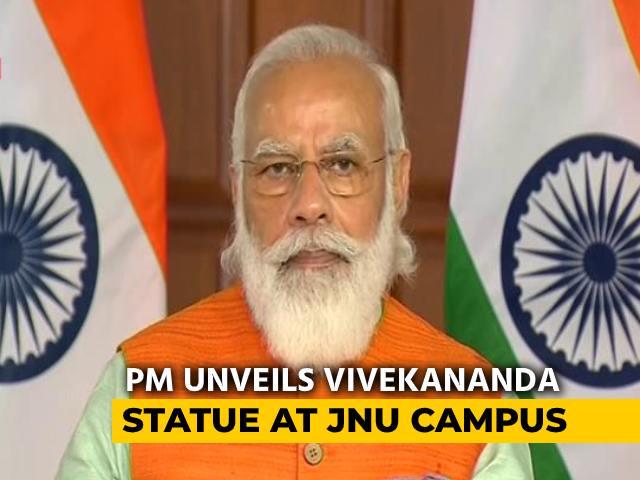 Video : Statue Of Swami Vivekananda At JNU Will Inspire All, Instill Courage: PM Modi