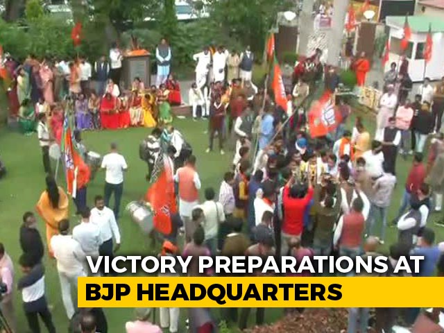 Video: BJP Gears Up For Celebration After Sweeping Most Bypolls, Lead In Bihar