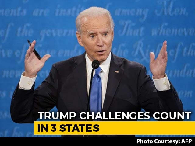 "Video : ""Stop The Count"", Trump Tweets As Biden Edges Closer To White House Win"