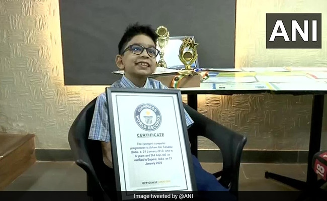 Class 2 Ahmedabad Student Enters Guinness Record As Youngest Programmer