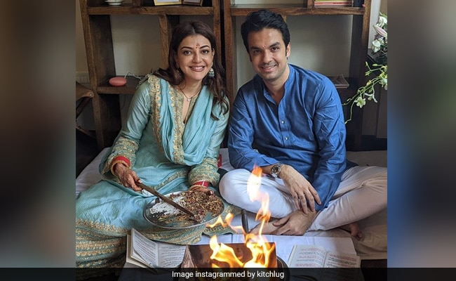 A Pic Of Newlyweds Kajal Aggarwal, Gautam Kitchlu And Their 'New Beginnings'
