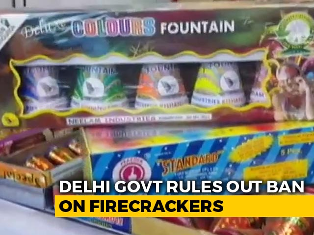 Video : Delhi Government Rules Out Firecracker Ban Amid Dip In Air Quality