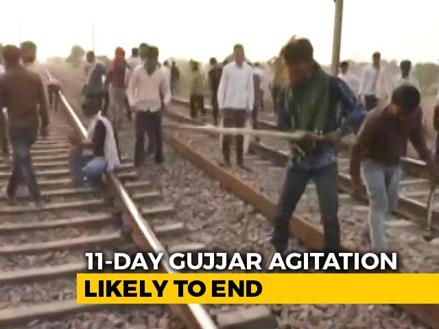 Video : Gujjars Likely To Leave Delhi-Mumbai Rail Route Track