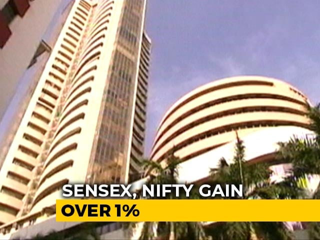 Video : Sensex, Nifty Gain Over 1% To Record Highs Tracking Global Markets