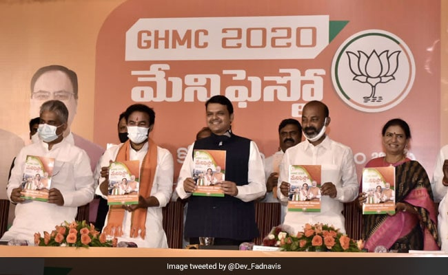 Hyderabad Civic Polls: BJP Releases Manifesto; Promises Flood Relief, Free Electricity