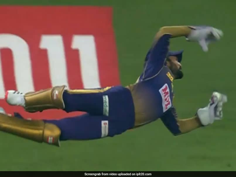 IPL 2020, KKR vs RR: Dinesh Karthik Flies Like A Bird To Pull Off One-Handed Stunner To Get Rid Of Ben Stokes. Watch