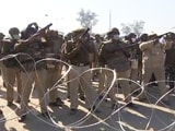 Video : Dramatic Video Of Cops Tear-Gassing Farmers At Delhi-Haryana Border