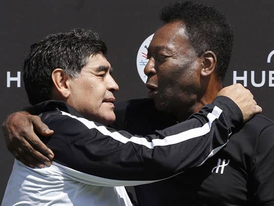 """I Hope Well Play Together In The Sky"": Pele Mourns Maradona"