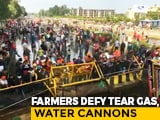 Video : Farmers Brave Tear Gas, Water Cannons, Push Into Haryana For Delhi March