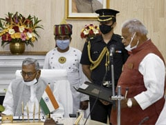 Former Chief Minister Jitan Ram Manjhi Sworn In As Pro-Tem Speaker Of Bihar Assembly