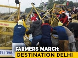 Video : Massive Jams At Delhi-Gurgaon Border Amid Farmers' March Chaos In Haryana