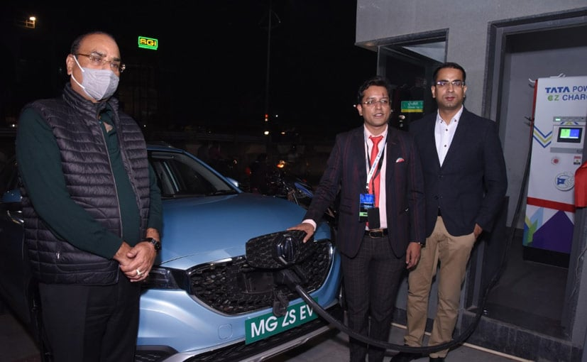 MG Motor India has set up Agra's first EV charging station.