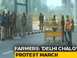 Video : Delhi Borders Sealed, Metro Services Affected As Farmers Gather For March