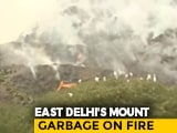 Video : Video: Massive Landfill Catches Fire In Delhi Amid Air Quality Concerns
