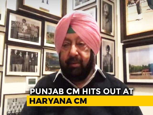 """Video : """"They Thrashed Farmers For Speaking Their Mind"""": Amarinder Singh On Protest"""
