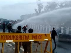 In Cold Wave, Water Cannons Used On Farmers Headed To Delhi