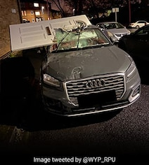 Teen Crashes Audi Into House, Drives Off With Front Door