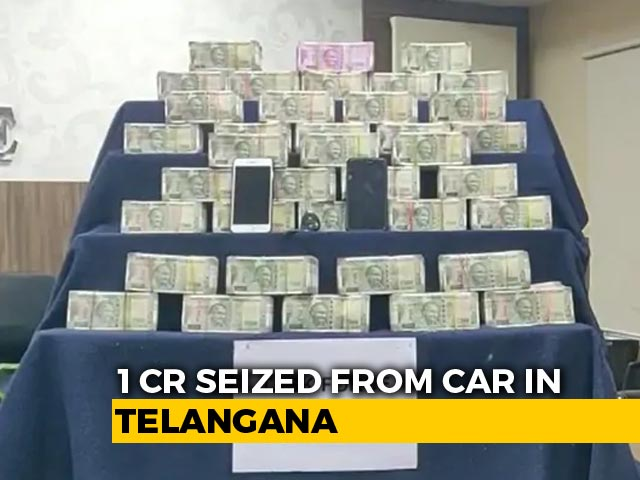 Video : Rs. 1 Crore Seized From Car In Telangana Town Headed For By-Election