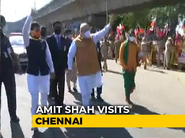 Video : Amit Shah In Chennai Amid BJP's Strained Ties With Tamil Nadu Ally