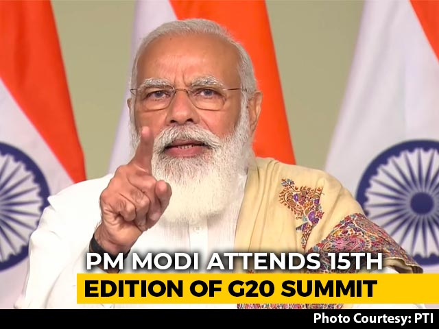 "Video : ""Coordinated Efforts Will Lead To Fast Recovery From Pandemic"": PM At G20"