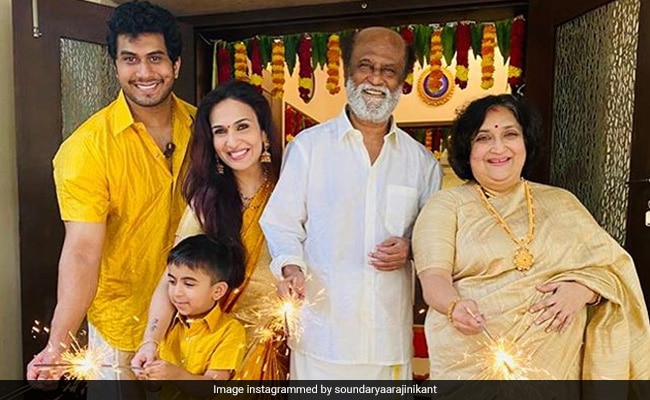 Diwali 2020: Here is How Rajinikanth Celebrated The Festival Of Lights With Family take a look
