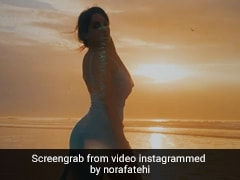 Nora Fatehi सिंदूरी शाम और ढलते सूरज को देख कह बैठीं दिल की बात, अब Video हो रहा वायरल