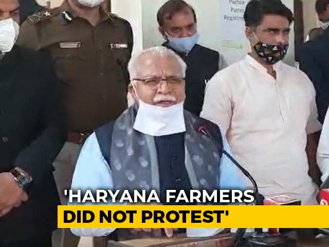 "Video : ""Not Our Farmers, Punjab Responsible For Protest"": Haryana Chief Minister"
