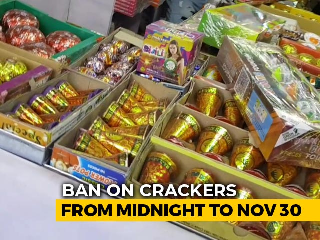 Video : Total Ban On Crackers From Midnight To November 30 In Delhi, Nearby Areas