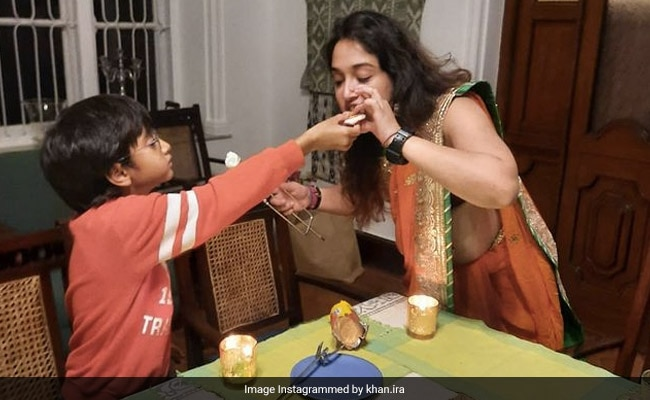 Aamir Khan's Daughter Ira Shares Pics From Diwali Celebrations With Brother Azad