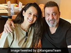 कंगना रनौत ने संजय दत्त के साथ फोटो किया ट्वीट, कहा- संजू सर पहले से भी ज्यादा हैंडसम हो गए हैं