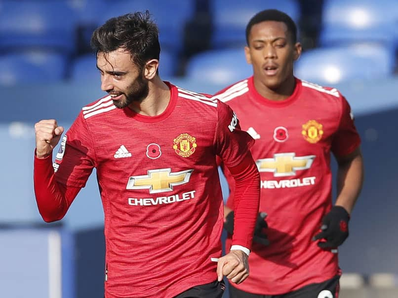 Bruno Fernandes At The Double As Manchester United Beat Everton