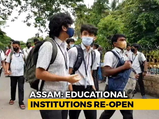 Video : Schools In Assam Reopen After Seven Months For Class 6 And Above