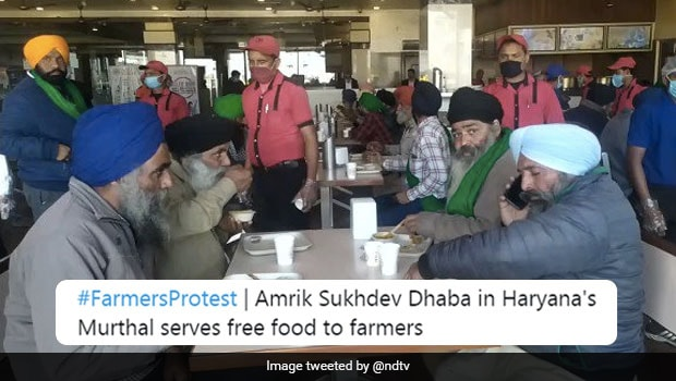 Murthal Dhaba Is Providing Free Food To Protesting Farmers, Twitter Is Impressed