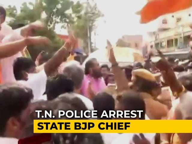 Video : Tamil Nadu Police Arrests State BJP Chief As Party Dares Government With Vel Yatra
