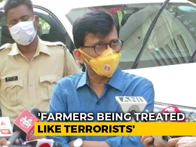 "Video : ""Being Treated Like Terrorists"": Sena's Sanjay Raut On Farmers' Protest"