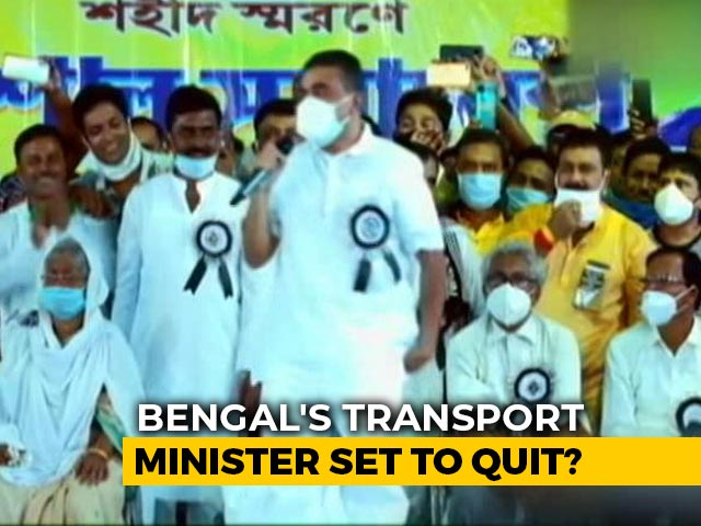 Video : Minister Suvendu Adhikari's Events With No Trinamool Posters Hint Of Exit