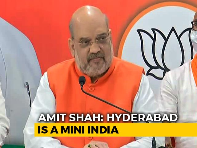 "Video : ""We'll Move From Dynasty To Democracy,"" Says Amit Shah in Hyderabad"
