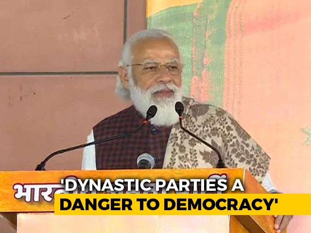 Video : Family-Run Parties Biggest Threat To India's Democracy: PM Modi